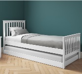 White Single Beds Frames