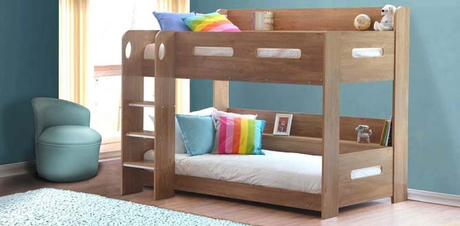 Sky bunk bed white