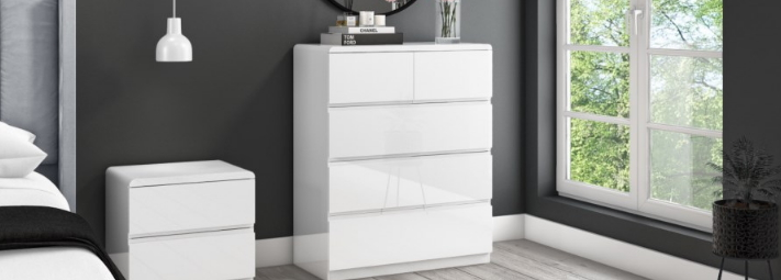 Lyra White Gloss Furniture Collection.