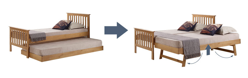 Captain Single Guest Bed Frame