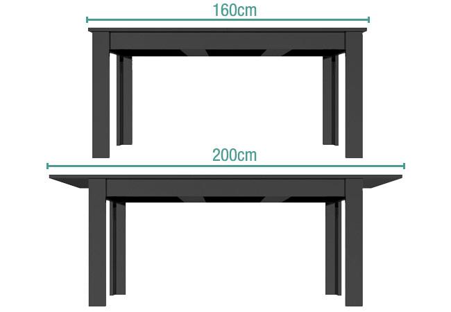 Grade a2 vivienne extending black high gloss dining for Furniture 123 code