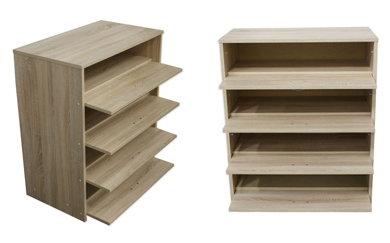 Billi oak 4 tier shoe cabinet dimensions