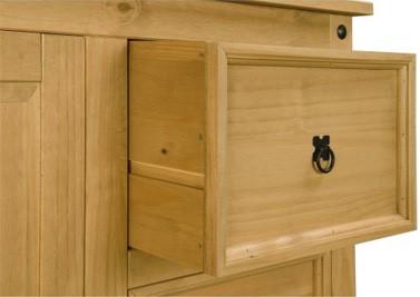 Corona mexican 1 door 4 drawer short wardrobe in solid for Furniture 123 code