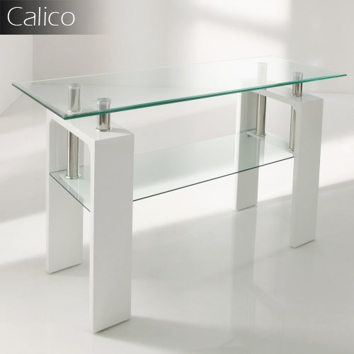 Calico console table