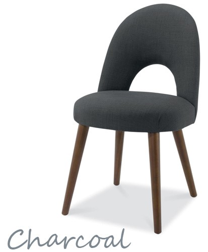 Bentley Designs Pair Of Oslo Fabric Dining Chairs In
