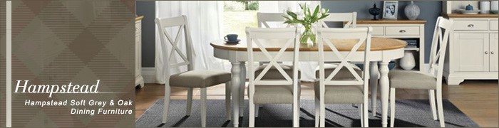 Hampstead soft grey and oak dining