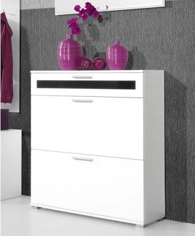 Modern white alaska shoe cabinet slim design space saving for Furniture 123 near me