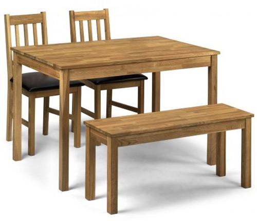 Julian Bowen Coxmoor Solid Oak Dining Bench