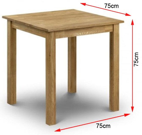 FOL067584 Coxmoor Solid Oak Square Dining Table