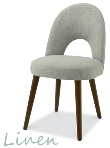 linen Oslo walnut chair