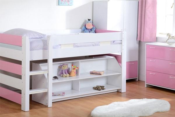 Grade A1 Seconique Lollipop Girls Mid Sleeper Bed In