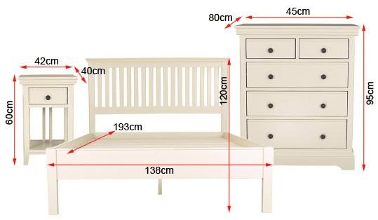three piece bed bundle dimensions
