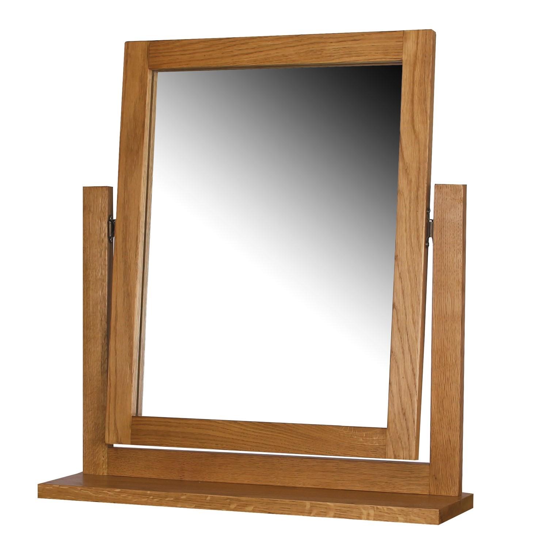 Rustic saxon solid oak wooden single panel dressing table