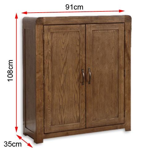 Windsor shoe cabinet dimensions