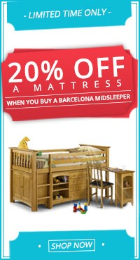 20% off a matress when you buy a midsleeper