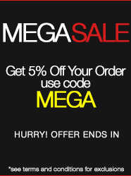 Use promo code MEGA at checkout
