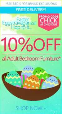 Save 5% on all bedroom furniture - use code CHICK