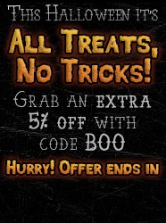 Use promo code BOO at checkout