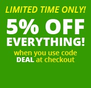 5% off Sale now on!