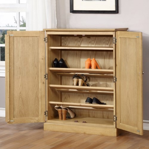 WIN001 shoe cabinet open